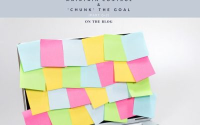 Maintain control + 'chunk' the goal [Part 6+7]. The Secret Traits of Winners Living Optimally & Purposefully